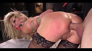 Painful pussy abuse - Blonde lesbian tied and anal punished while crying - by asshole punisher