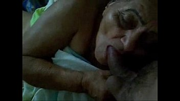 Old maid sucking my cock for extra money