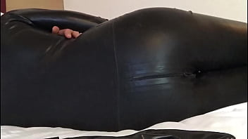 TimeLapse: relax over the bed in latex