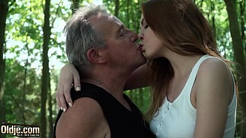 Red erotic gallery Sexy young redhead seducing grandpa and has incredible sex with him