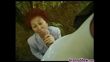 Fucked up all systems norma - European grandmother fucking outdoors