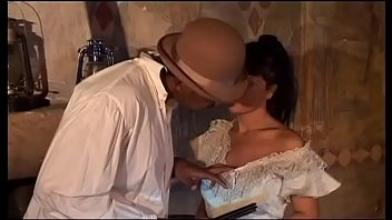 Italian brunette sucks a black cock who cums in her mouth 20 min