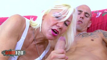 Blond French Mature slut  gets banged by spanish porn actor 23 min