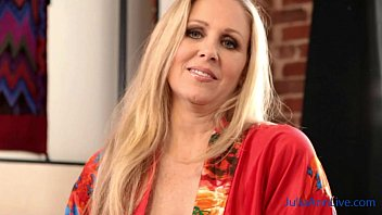 Sue ann landgon nude - Hot blonde milf julia ann showing off her stockings