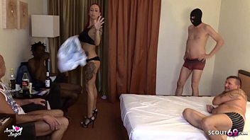 No Condom Creampie Gangbang for German Redhead Teen Hooker 11 min