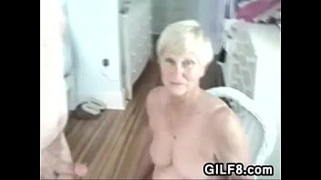Granny porn vidio clips - Naughty granny gives her man a blowjob