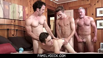 Mother turns son gay Familydick - sneaky boy gets barebacked by his stepgrandpa, stepdad, and stepbrother