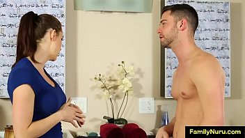 Shy milf try nuru massage