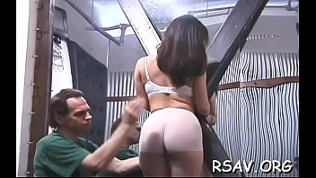 Breasty babe in brutal sadomasochism action