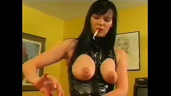 Kinky brunette mistress Tina Tyler and her shemale friend Genie take down  couple of  neglectful studs a peg