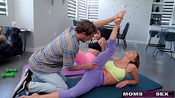"""Are you Serious Mom?"" - Yoga Step Mom Fucks My BF And I Join In"
