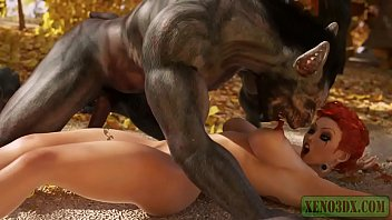 Little Red Riding Hood attacked & fucked by 3D Monster Werewolf in mystique forest. 3DX Fairy Tail Parody 9 min