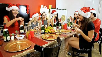 Group of excellent snow girls including Empera were drilled by Santa's dick 39 min