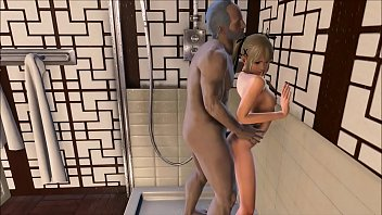 Fallout 4 Marie Rose in the shower with grandpa