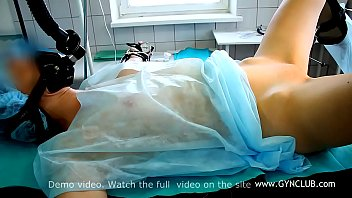 Medical sex video clips - Gynecological exam on op table