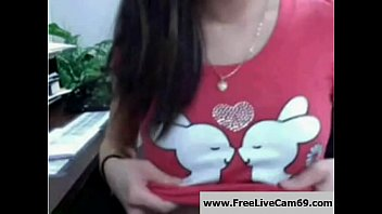 Asian Babe Masturbates on Cam at Work While Boss is Away