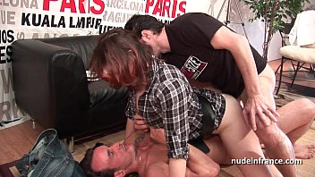 Hard casting french redhead analized and double penetrated with a good facial 32 min