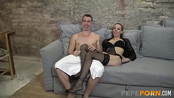 Nervous MILF came to her first scene and ended up assfucked
