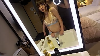A cute beauty with a bright personality and a vaginal cum shot SEX. She Love Love dating aquarium. The best blowjob. Intense missionary SEX.