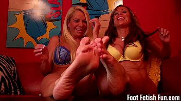 We are going to humiliate you with our feet