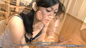 Emiko getting fucked and cummed on in a threesome