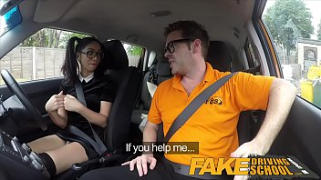Imation drives suck - Fake driving school sexy spanish learner sucks big cock for lessons