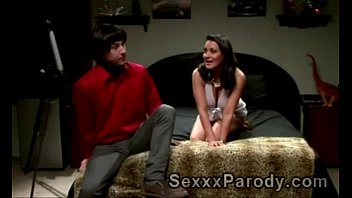 Wolowitz gets his hard prick sucked by beauty in XXX parody