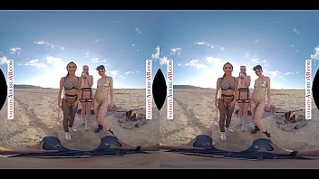 Naughty America - VR you get to fuck 3 chicks in the desert