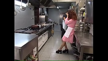 Nude photo waitress - The new young waitress is hard fucked in the kitchen