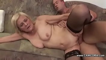 Granny is From Stranger Men Fucked Hard and Cum in Face