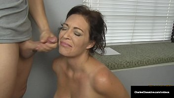 Employment blow job lyrics Husbands employer gets milf charlee chase to suck his cock
