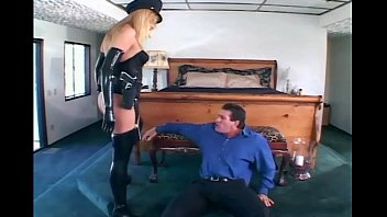 Cop fucked in uniform - Female officer fucking in gloves and stockings