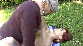Nude redheaded teen - Pretty amateur young french redhead banged by oldman voyeur outdoor