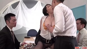Rina Mayuzumi works hard to deal cocks at the office  - More at Pissjp.com