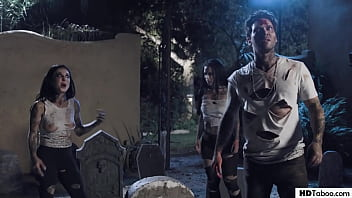 Cemetery Sex With Ghosts - Katrina Jade, Joanna Angel, Lacy Lennon and Small Hands