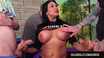 Mature woman hand jobs Busty mature sheila marie serves five men at once using every hole shes got