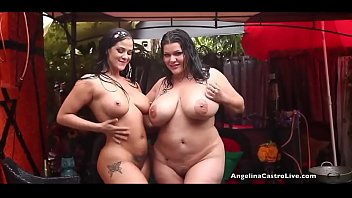 Angelina Castro And Miss Raquel Kitty Play In The Rain!