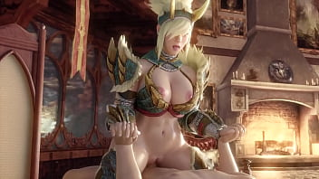 Hunter (MHW) Is Really Horny After Hours Of Grinding - (Exga)