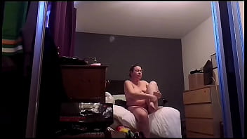 Great spycam footage of sexy busty blonde
