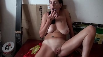 Amateur MILF with big saggy tits and big ass gets fucked in wet pussy. Cum on body. Real homemade sex video with ex wife. Hot British mom
