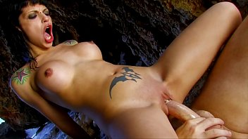 Sexy and hot Tight Pussy Brunette Amateur Girl rides the big cock on a beach not far away
