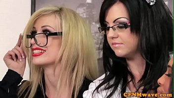 Galleries of office sluts Spex cfnm femdom facialized after cocksucking