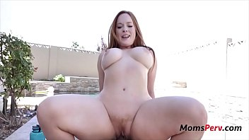 Mom And Son's Cum Tan Lotion Moment- Summer Hart
