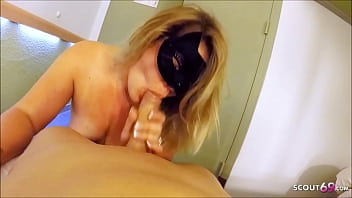 German Wife Real Cheating Sex with Young Boy in Hotel