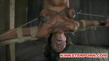 BDSM - Suspension, bonded and wide spread legs, ass and cunt t. 4 min