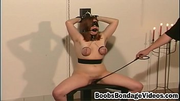 Lady begs sex - Kinky boobs bondage as sleazy beauty begs smashed
