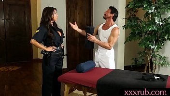 Massive Boobs Officer Massage And Fucked