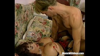 MILF Brunette With Massive Tits Fucked In Sexy Lingerie