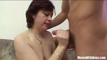 Redhead Stepmom In Stockings Old And Young Couch Sex thumbnail
