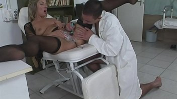 The lady has problems in intimate areas and the young doctor knows how to treat her